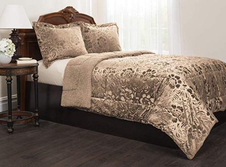 Mastertex Sherpa Quilted Fleece Comforter Set