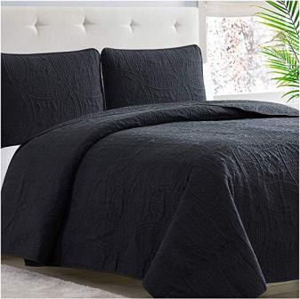 Mellanni Bedspread Coverlet Set Black