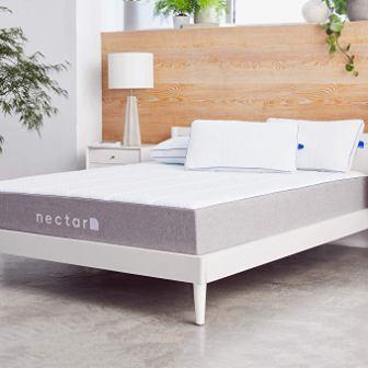 Nectar Queen Mattress plus Two Pillows