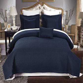 Royal Hotel Navy Coverlet 2pc Set