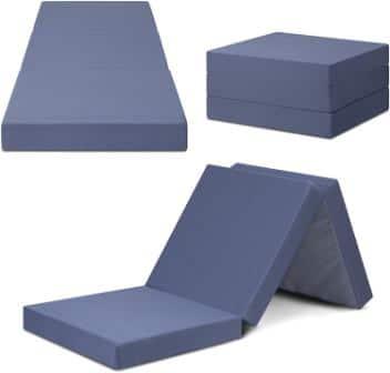SLEEPLACE 04TM01S 4 Inch Tri-Folding Mattress