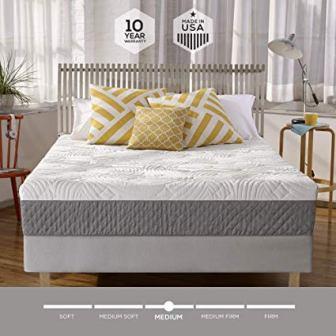 Sleep Innovations Shea M-MAT-02250-QN-WHT