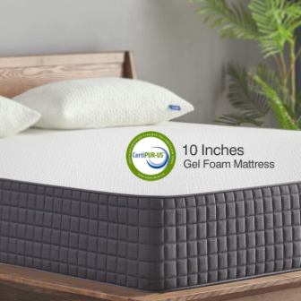 Sweetnight 10 Inch Infused Gel Memory Foam Mattress