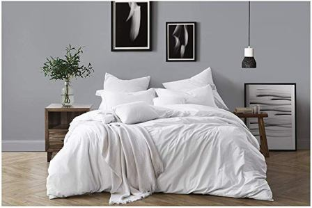 Swift Home Chambray Duvet Cover and Sham Twin Bedding Set