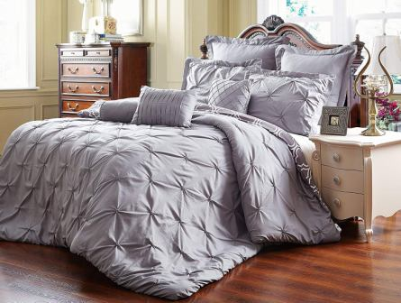 8 PC Reversible Comforter Set Bed In A Bag Sheets Skit Shams Bedding Queen Size