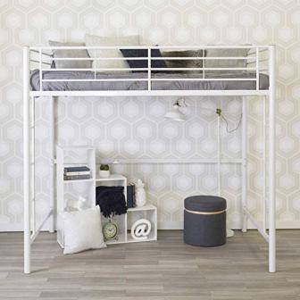 WE Furniture AZDOLWH Modern Metal Pipe Full Bunk bed