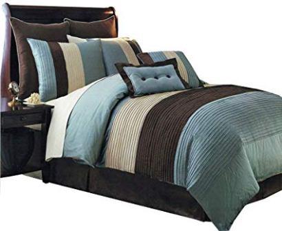 sheetsnthings' Aqua Blue Comforter Set and Sheet Set