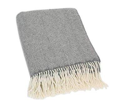 Biddy Murphy Irish Blanket (95% Merino Wool 5% Cashmere)
