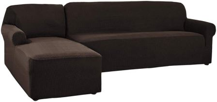 CHUN YI Two Pieces L-Shaped sectional couch cover