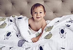 Clover & Sage Organic Muslin Blanket for Babies and Toddlers