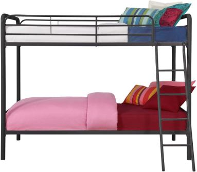 DHP Twin Size Double Bunk Bed Metal Frame