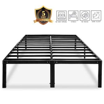 HAAGEEP Metal Platform Bed Frame Queen Size