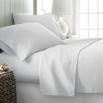 Indiana Linen 1500 Thread Count Authentic Cotton Heavy 4-Pc Sheet Set