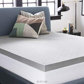 LUCID BAMBOO CHARCOAL MEMORY FOAM FIRM MATTRESS TOPPER