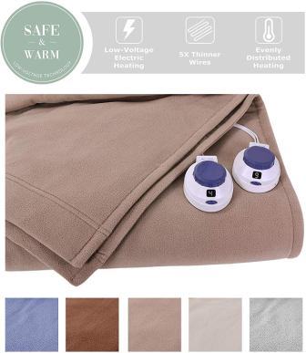 SoftHeat Perfect Fit Luxury Fleece Electric Heated King Size Warm Soft Blanket