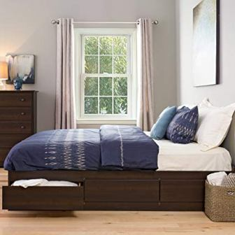 Prepac -K King Sonoma Platform Storage Bed with 6 Drawers