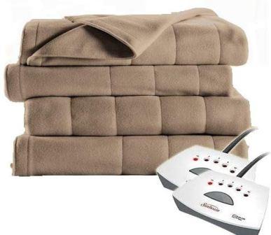 Sunbeam Quilted Fleece Electric Blanket