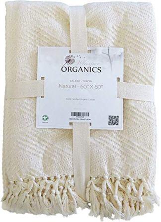 Whisper Organics GOTS Certified Organic Throw Blanket