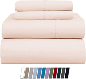 Xoox Linen 1000 Thread Count Bed Sheet Set