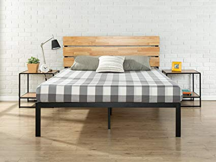 Zinus Paul Metal and Wood Platform Bed