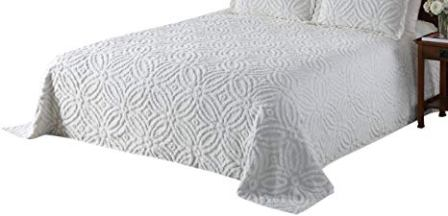 Beatrice Home Fashions Wedding Ring Chenille Bedspread