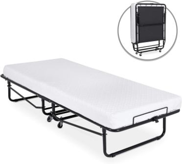 Best Choice Products Folding Rollaway Guest Bed