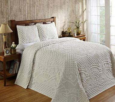 Better Trends Trevor Collection Chenille Bedspread