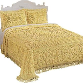 Collections Etc Calista Chenille Bedspread
