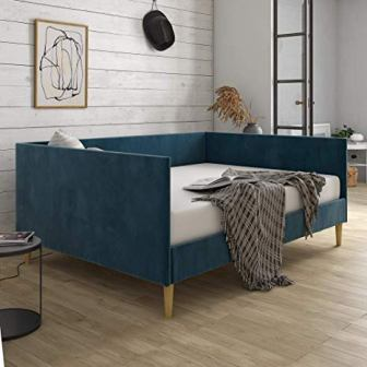 DHP Franklin Mid Century Upholstered Full Size Daybed