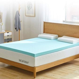 HOFISH 3-inches Gel Infused mattress toppers