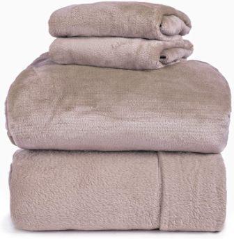 Insulated Warm Fleece Flannel Plush Sheet Set from Spyder
