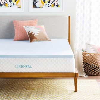 LINENSPA Gel Infused Mattress Topper