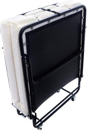 LayoutMetal Folding Bed Frame with Memory Foam Mattress