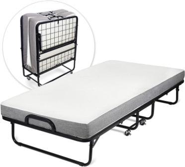 Milliard Diplomat Folding Bed with Luxurious Memory Foam Mattress