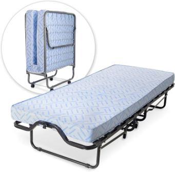 Milliard Lightweight Folding Cot/Bed with Mattress