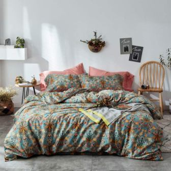 Mixinni Vintage Style Floral Duvet Cover