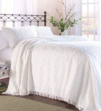 Plow & Hearth Tufted Chenille Cotton King Bedspread