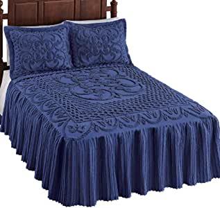 Pristine Scroll and Lattice Chenille Bedspread