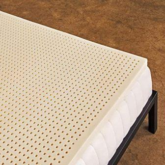Pure Green 100% Natural Latex Mattress Topper, Soft, 2″ Queen Size from Sleep on Latex