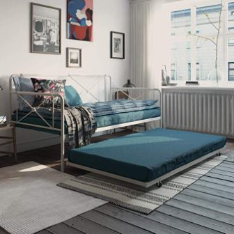 REALROOMS Ally Metal Farmhouse Daybed