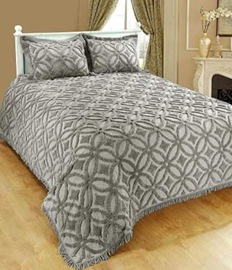 Saral Home Fashions Grace Chenille Bedspread