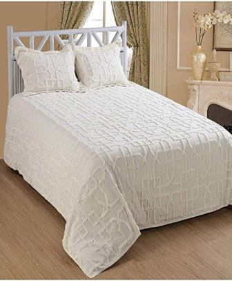 Saral Home Fashions Shapes Design Chenille Bedspread