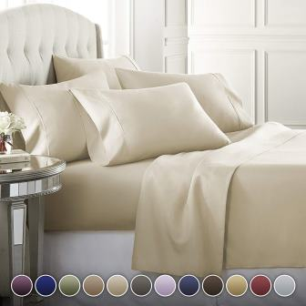 1800 Series Premium Bed Sheets Set by Danjor Linens