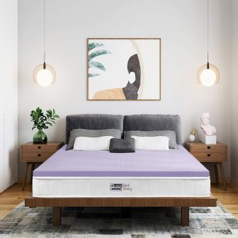 BedStory Lavender-Infused Memory Foam Mattress Topper