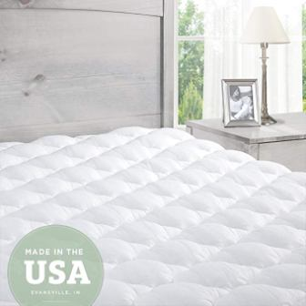 ExceptionalSheets Pillowtop Mattress Pad with Fitted Skirt, King Size