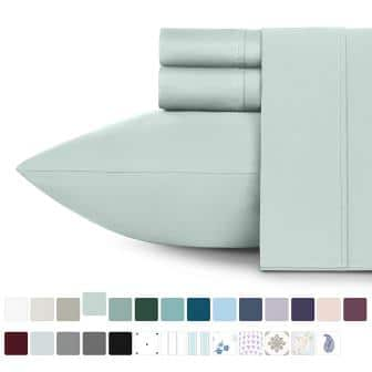 Long staple cotton bed sheets set by California Design Den