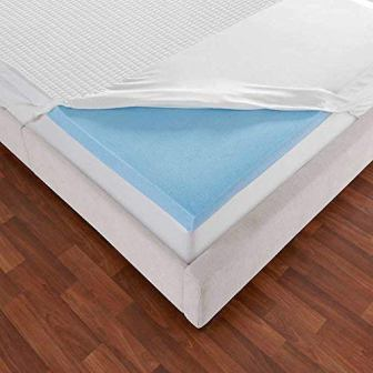 Novaform 3-Inch EVENcor GelPlus Gel Memory Foam Mattress Topper