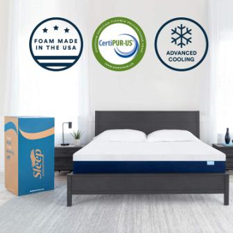 Sleep Innovations Shiloh Memory Foam 12-Inch Mattress King Size