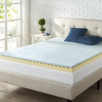 Zinus 4-Inch Swirl Gel Memory Foam Mattress Topper