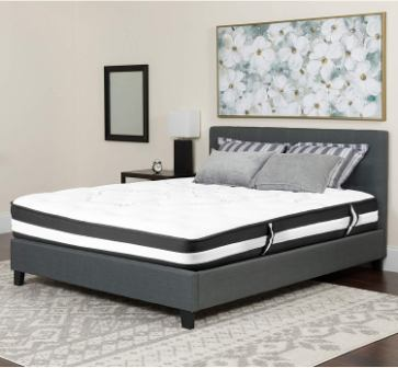 Flash Furniture Capri 12 Inch Memory Foam and Pocket